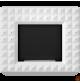 EGZUL biały z kryształami Swarovski mat