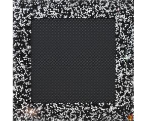 Kratka Venus z kryształami Swarovski czarno-srebrna 17x17