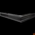 LUFT SF narożny lewy czarny 76,6x54,7x9