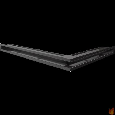 LUFT SF narożny lewy czarny 76,6x54,7x6