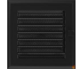 Kratka Oskar czarna z żaluzją 17x17