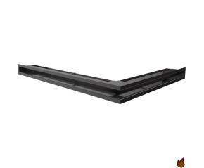 LUFT narożny lewy czarny 76,6x54,7x6