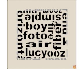 Kratka ABC kremowa 17x17