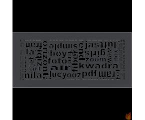 Kratka ABC grafitowa 17x37