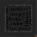 Kratka ABC czarna 17x17