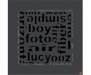 Kratka ABC grafitowa 17x17