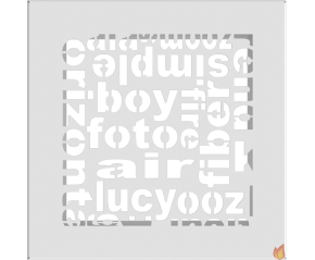 Kratka ABC biała 17x17