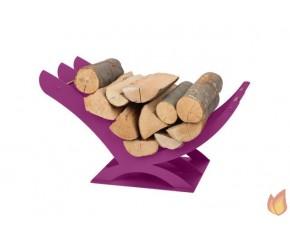 Akcesoria kominkowe - stojak - kosz na drewno