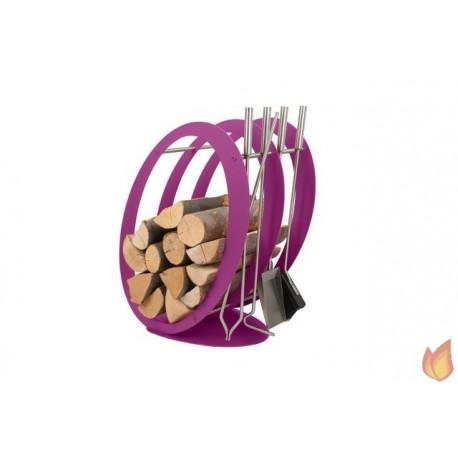 Stojak na drewno + przybory kominkowe - symbol SA 001F