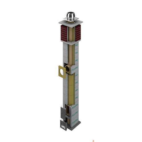 Zestaw kominowy ceramiczny ZAPEL ECO S 180 9 mb