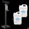 Zestaw Dozownik do Płynu i Żelu do dezynfekcji ze stojakiem wolnostojącym oraz płynem 10L do dezynfekcji