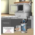 Dodatkowe opcje do kominków - Odprowadzenie popiołu fi 150