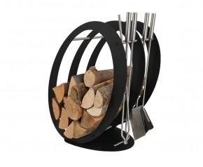 Stojak na drewno + przybory kominkowe - symbol SA 001