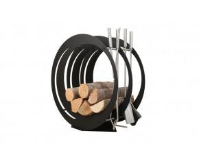 Stojak na drewno + przybory kominkowe - symbol SA 003