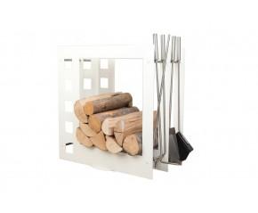 Stojak na drewno + przybory kominkowe - symbol SA 004
